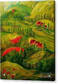 Tuscany At Dawn Acrylic Print