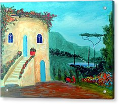 Acrylic Print featuring the painting Tuscany Dreams by Larry Cirigliano