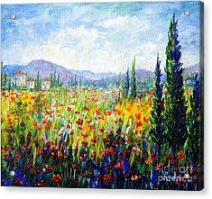 Tuscany Fields Acrylic Print