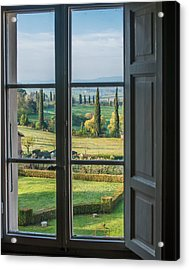 Tuscany Out My Window Acrylic Print