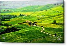 Tuscany S Green Scapes Acrylic Print by Alessandro Giorgi Art Photography