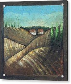 Tuscany Trees Acrylic Print