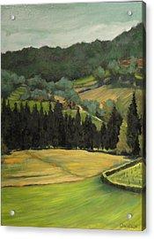 Tuscany View Acrylic Print