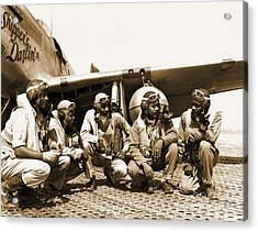 Tuskegee Airmen Acrylic Print by Pd