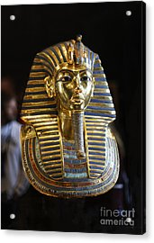 Tutankhamun's Magnificent Golden Death Mask. Acrylic Print by Mohamed Elkhamisy