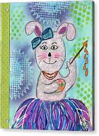 Tutu Bunny Artist Acrylic Print