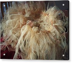 Acrylic Print featuring the painting Tutu by Judith Desrosiers