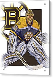 Tuukka Rask Boston Bruins Oil Art 1 Acrylic Print