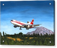 Twa L1011 Landing At Seattle Acrylic Print
