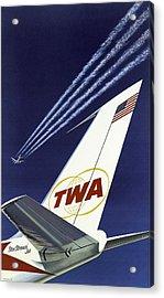 Twa Star Stream Jet - Minimalist Vintage Advertising Poster Acrylic Print