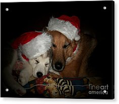 Twas The Night Before Christmas Acrylic Print by Marjorie Imbeau