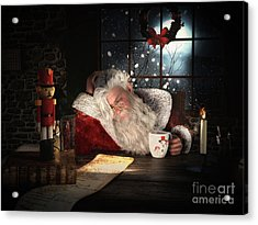 Acrylic Print featuring the digital art Twas The Night Before Christmas by Shanina Conway