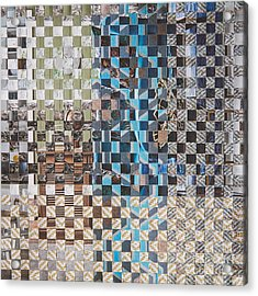 Acrylic Print featuring the mixed media Tweed by Jan Bickerton