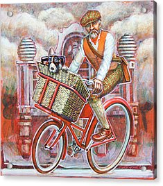 Tweed Runner On Red Pashley Acrylic Print by Mark Howard Jones