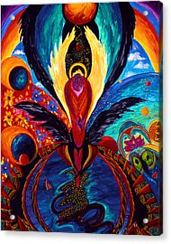 Acrylic Print featuring the painting Captive Angel by Marina Petro