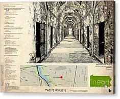 Twelve Monkeys Location Movie, Script, Brad Pitt, Bruce Willis Acrylic Print
