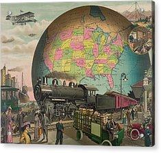 Twentieth Century Transportation. 1910 Acrylic Print by Everett