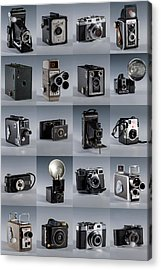 Twenty Old Cameras - Color Acrylic Print