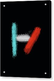 Twenty One Pilots Black Abstract Acrylic Print