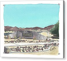 Acrylic Print featuring the painting Twentynine Palms Welcome by Betsy Hackett