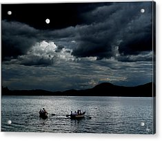 Acrylic Print featuring the photograph Twice In A Blue Moon by Wayne King