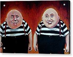 Twiddledee And Twiddledumb Acrylic Print by Tom Carlton