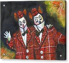 Twiddledee Twiddledum Acrylic Print by Olga Kaczmar
