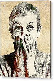 Twiggy Surprised Acrylic Print by Mihaela Pater
