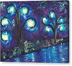 Twiglight Woods Acrylic Print by Jessilyn Park