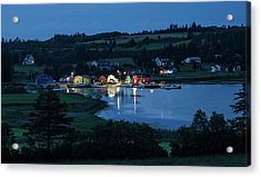 Acrylic Print featuring the photograph Twilight At French River Harbour, Pei by Rob Huntley