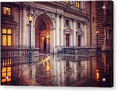 Twilight At Hamburg Town Hall Courtyard  Acrylic Print by Carol Japp