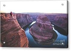 Twilight At Horseshoe Bend Acrylic Print by JR Photography