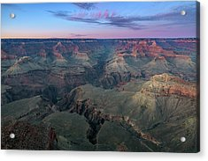 Twilight At South Rim Grand Canyon Acrylic Print