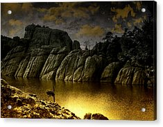Twilight At The Lake Acrylic Print by Ellen Heaverlo