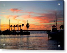Twilight At The Marina Acrylic Print