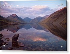 Twilight At Wastwater In Cumbria Acrylic Print