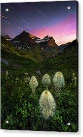Twilight // Bird Woman Falls, Glacier National Park  Acrylic Print