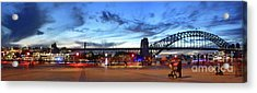 Acrylic Print featuring the photograph Twilight By The Bridge By Kaye Menner by Kaye Menner