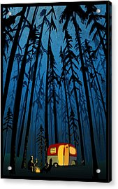 Acrylic Print featuring the painting Twilight Camping by Sassan Filsoof