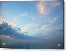 Acrylic Print featuring the photograph Twilight Clouds Over Lake Superior by Jane Melgaard