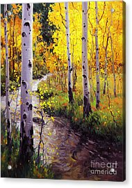 Twilight Glow Over Aspen Acrylic Print by Gary Kim