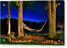 Twilight Hammock Smith Mountain Lake Acrylic Print
