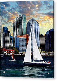 Twilight Harbor Curise1 Acrylic Print