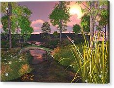 Twilight Hunter Acrylic Print by Mary Almond