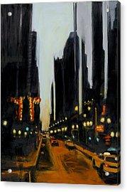 Twilight In Chicago Acrylic Print