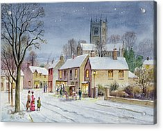 Twilight In The Village Acrylic Print by Stanley Cooke