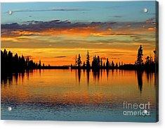Twilight Lake Reflections In Colorado Acrylic Print