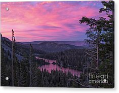 Twilight Mammoth Lakes  Acrylic Print