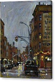 Twilight On 7th And Avenue B Vazac Bar Nyc Acrylic Print