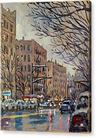Twilight On Broadway New York City Acrylic Print by Thor Wickstrom